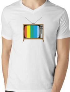 Retro TV Mens V-Neck T-Shirt