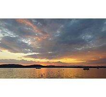 Summer sunset in Greece Photographic Print