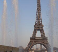 Trocadero gardens and Eiffel tower, Paris Sticker