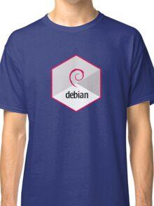 debian operating system linux hexagonal Classic T-Shirt