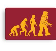 Sheldon Cooper - The Big Bang Theory Robot Evolution Canvas Print