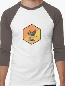 gimp design image paint software hexagonal Men's Baseball ¾ T-Shirt
