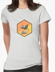 gimp design image paint software hexagonal Womens Fitted T-Shirt