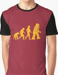 Sheldon Cooper - The Big Bang Theory Robot Evolution Graphic T-Shirt