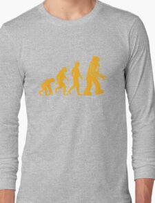 Sheldon Cooper - The Big Bang Theory Robot Evolution Long Sleeve T-Shirt