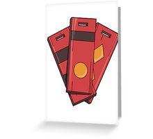 Spirited Away Tags Greeting Card