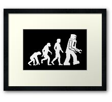 Sheldon Cooper - The Big Bang Theory Robot Evolution White Variant Framed Print