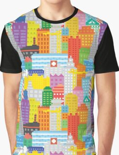 Pixel art NY city  Graphic T-Shirt