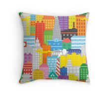 Pixel art NY city  Throw Pillow