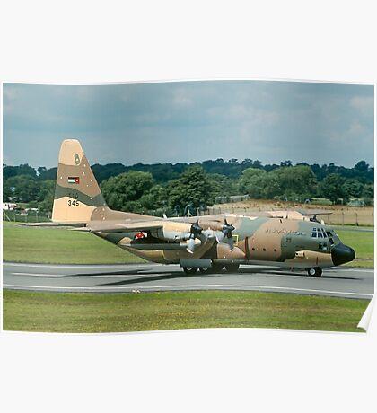 "Lockheed C-130H Hercules 345 ""Guts Air Line"" Poster"