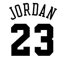 Jordan 23 Black Photographic Print