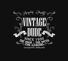 Vintage Dude 80 since 1936 – 80th birthday anniversary gift for men  Unisex T-Shirt