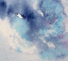Dramatic sky || watercolor Sticker