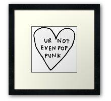 pop punk Framed Print