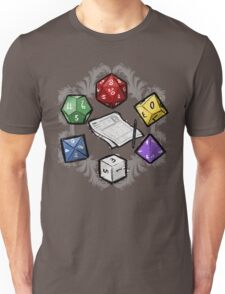 RPG DICE set and DICE PATTERN Unisex T-Shirt