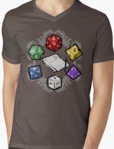 RPG DICE set and DICE PATTERN Mens V-Neck T-Shirt