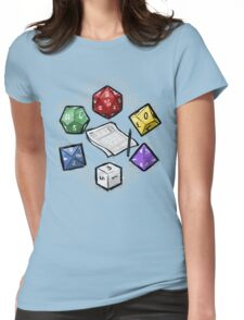 RPG DICE set and DICE PATTERN Womens Fitted T-Shirt