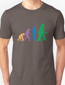 Sheldon Cooper - The Big Bang Theory Robot Evolution Colour Unisex T-Shirt