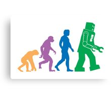 Sheldon Cooper - The Big Bang Theory Robot Evolution Colour Canvas Print