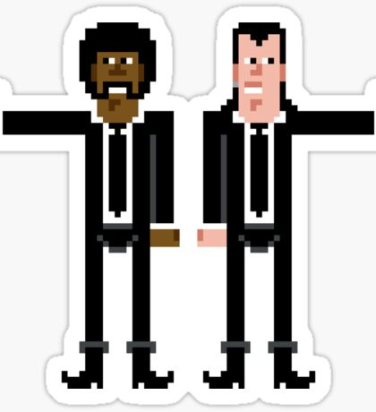 Pixel Vincent and Jules. Pulp Fiction. Sticker