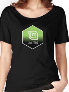linux mint hexagonal hexagon design Women's Relaxed Fit T-Shirt