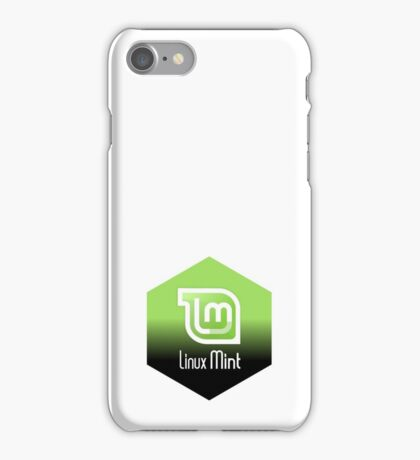 linux mint hexagonal hexagon design iPhone Case/Skin