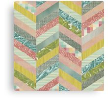 Chevron Herringbone Pattern Canvas Print