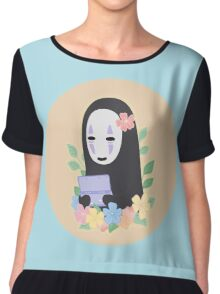 No Face Aloha Chiffon Top