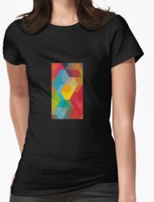 Block of colours Womens Fitted T-Shirt