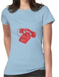 Telephone Vintage Drawing Womens Fitted T-Shirt