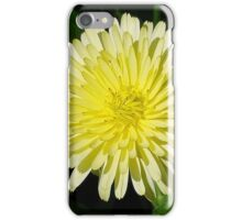 Pale Yellow Mary Bud Marigold With Garden Background iPhone Case/Skin
