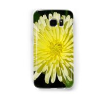 Pale Yellow Mary Bud Marigold With Garden Background Samsung Galaxy Case/Skin