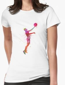 young man basketball player Womens Fitted T-Shirt