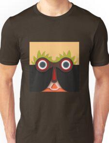 Lustiges abstraktes Gesicht Unisex T-Shirt