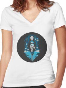 Spirited Away World Women's Fitted V-Neck T-Shirt