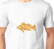 Black Sea Bass Drawing Unisex T-Shirt