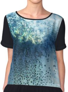 Abstract blue scales .2 Chiffon Top