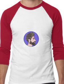 Hipster Portrait  Men's Baseball ¾ T-Shirt