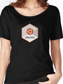 ubuntu linux unix operating system hexagonal Women's Relaxed Fit T-Shirt