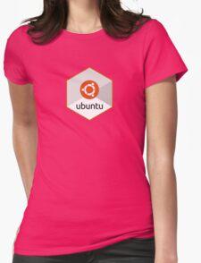 ubuntu linux unix operating system hexagonal Womens Fitted T-Shirt