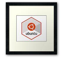 ubuntu linux unix operating system hexagonal Framed Print
