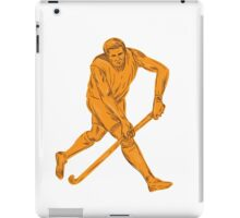 Field Hockey Player Running With Stick Drawing iPad Case/Skin