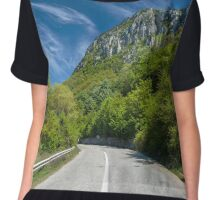 Road into the mountains Chiffon Top