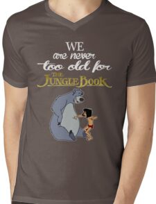 We Are Never Too Old For The Jungle Book T-shirts Mens V-Neck T-Shirt