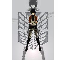 Warrior Mikasa Photographic Print