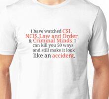 Criminal Minds NCIS Law and Order CSI Unisex T-Shirt