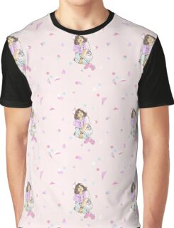 Fairy kei person sitting (pink) Graphic T-Shirt