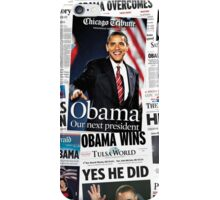 Obama 2008 Commemorative Front Pages iPhone Case/Skin