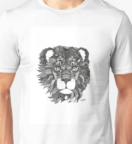 Leo Lion Black and White Zodiac Illustration Unisex T-Shirt