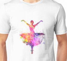 Woman ballerina ballet dancer dancing Unisex T-Shirt
